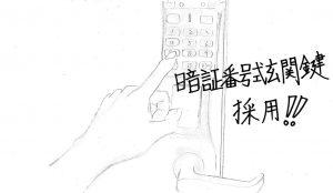 暗証番号式鍵絵